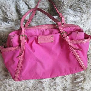 Kate Spade pink leather trim purse shoulder bag